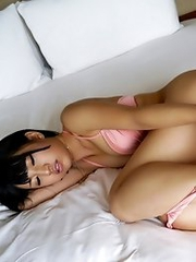 Horny and desperate Japanese av idol Nanase Otoha shows her sexy body in the bed