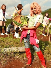 Farmer girls Raina Ogami and Rara
